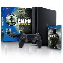 CONSOLE PLAYSTATION 4 500GB SLIM COM JOGO CALL OF DUTY BUNDL PS4 SONY - Sony