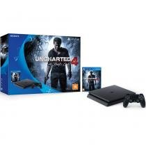 Console Playstation 4 500Gb Slim + Game Uncharted 4: A Thiefs End PS4 - Sony