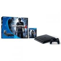 Console Playstation 4 PS4 Slim 500GB + Game Uncharted 4 Nacional- Sony - SONY