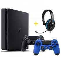 Console Playstation 4 Slim 500GB com 2 Controles + Headset Ear Force P4C com Microfone - Turtle Beach - Sony