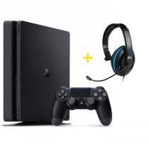 Console Playstation 4 Slim 500GB + Headset Ear Force P4C com Microfone - Turtle Beach - Sony