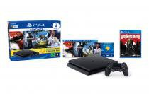 Console PS4 500GB Hits Bundle 2 + 5 Jogos + Controle Wireless DualShock 4 - Sony -