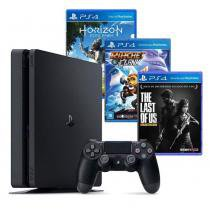 Console PS4 500GB Hits Bundle + 3 Jogos - Sony