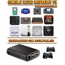 Console Retrô RetroPie 25.000 Jogos + 2 Controles PS3 - Bd net imports