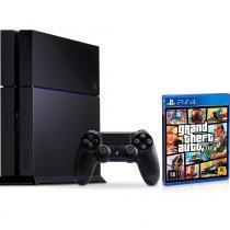 Console sony playstation 4 500gb 1 controle + jogo para ps4 grand theft auto v - Sony