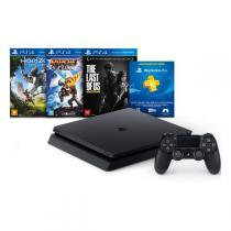 Console Sony Playstation 4 500Gb Slim Bundle Hits (Horizon Zero Dawn, Ratchet  Clank e The Last Of Us) - Sony Brasil - Sony
