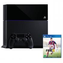 Console Sony Playstation 4 (PS4) / 500GB / 1 Controle + Jogo FIFA 15 - SONY