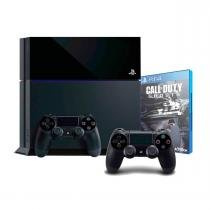 Console sony playstation 4 (ps4) / 500gb / 2 controles / jogo call of duty: ghosts - Sony