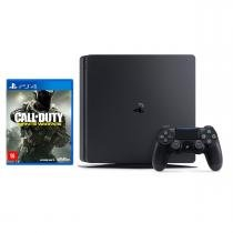 Console sony playstation 4 (ps4) slim / 1tb / 1 controle / jogo call of duty - infinite warfare - Sony