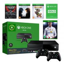 Console Xbox One 500gb + 4 Jogos + Live + 2 Controles - Microsoft