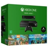 Console Xbox One 500GB + Kinect + Jogos Kinect Sports Rivals, Zoo Tycoon - Microsoft