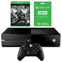 Console Xbox One 500gb + Live 12 Meses + Controle Wireless - Microsoft