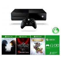 Console Xbox One 500GB + Live Card Gold 3 Mêses + Jogos Halo 5, Gear Of War Ultimate, Rare Replay - Microsoft