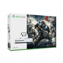 Console Xbox One S - 1 Terabyte + HDR + 4K Streaming + Jogo Gears of War 4 - Microsoft