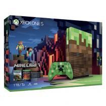 Console Xbox One S - 1 Terabyte + HDR + 4K Streaming + Jogo Minecraft - Edição Limitada - Microsoft -
