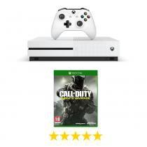 Console Xbox One S 500GB Microsoft com Jogo Call of Duty: Infinite Warfare -