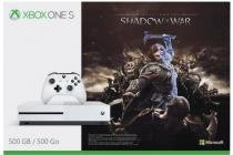 Console Xbox One S Microsoft 500 gb + Shadow of War Game Pass Live Gold -