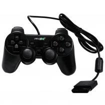 Controle analogico playstation 2 preto flex compativel -