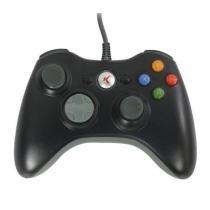 Controle C/Fio Knup Xbox 360 KP-5121A Preto - Mega page