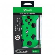Controle com fio p/ Xbox One - Verde - Power a