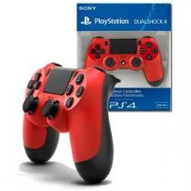 Controle dualshock 4: magma red - ps4 - Sony