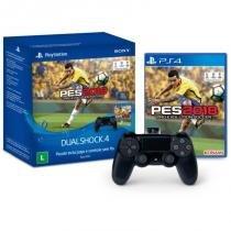 Controle DualShock 4 Sem Fio com Game PES 2018 PS4 - Sony