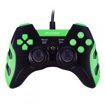 Controle Gamer Warrior Para Ps3 Ps2 Pc Preto E Verde Js081 Multilaser -