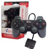 Controle Joystick Joypad Dual Shock Feir Playstation 2 - Preto -