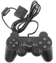Controle Para Playstation 2 Ps2 Com Fio - Cor Preto - Mf imports