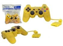 Controle para PS2 KNUP com Fio Amarelo KP-2121A -OEM KP-2121A KNUP -