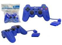 Controle para PS2 KNUP com Fio AZUL KP-2121A -OEM KP-2121A KNUP -
