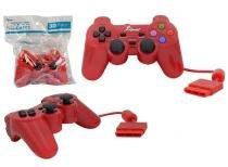 Controle para PS2 KNUP com Fio Vermelho KP-2121A -OEM KP-2121A KNUP -