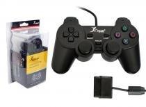 Controle para PS2 Preto NS-2121 NS-2121 KNUP -