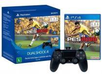 Controle para PS4 Sem Fio  - Dualshock 4 + PES 2018 Sony Preto