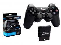 Controle PS2 sem Fio Preto KNUP NS-2020 NS-2020 KNUP -