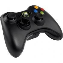 Controle Xbox 360 sem fio Preto - Microsoft