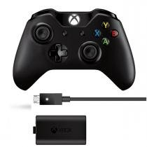 Controle Xbox One Wireless + Kit Play and Charge - Microsoft