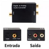 Conversor Audio ótico e Coaxial Digital para RCA  Analogico - Importado