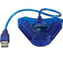 Conversor fxadp01 ps2 para pc/ps3 azul - flex - Flex