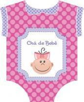 Convite Duster Chá De Bebe Rosa C/8 Peças -