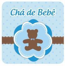 Convite Duster Chá De Bebe Urso Azul C/8 Peças -