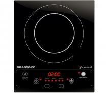 Cooktop 1 boca de indução Brastemp Gourmand portátil com timer touch -