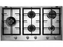 Cooktop 5 Bocas Brastemp Gourmand BDK90 Inox à Gás - Natural e GLP Acendimento Superautomático
