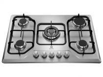 Cooktop 5 Bocas Electrolux GT75X Inox à Gás - Tripla-Chama Acendimento Superautomático