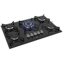 Cooktop 5 Bocas Philco Cook Chef 5 TC à Gás - GLP Preto Tripla-chama Cook Chef 5 TC