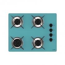 Cooktop classical 4 bocas chama rápida turquesa bivolt - Azul - Casa vitra