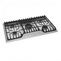 Cooktop Electrolux 5 Bocas a Gás Icon Turbo Flame Automático Inox -
