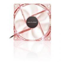 Cooler Fan com LED Vermelho 12x12cm 1300RPM GA136 - Multilaser - Multilaser