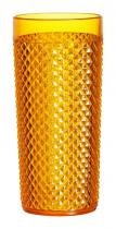 Copo Diamante 500ml Plástico Crystal Laranja 438-2 - Niquelart - Niquelart