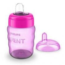 Copo easy sip cup com bico de silicone menina 260ml philips avent scf553/03 - Philips avent